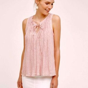 Meadow Rue Pleated Tank Top